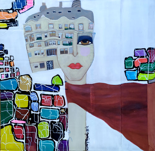 Lady Barcelona by Maria Laura Vila, guest artist at Louise's ARTiculations
