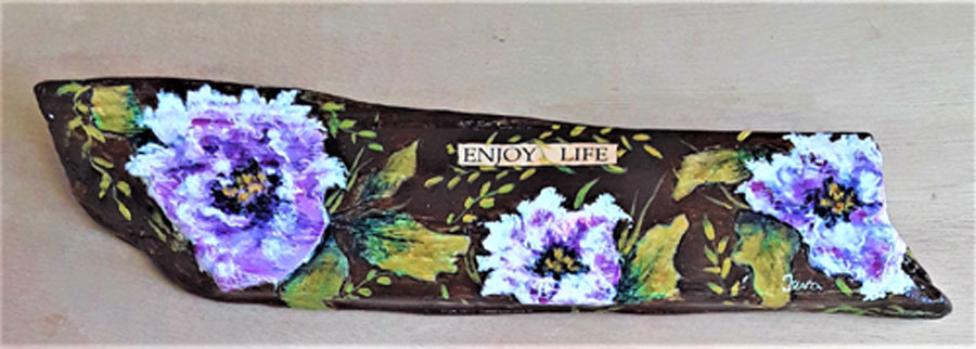 Enjoy Life by Ingrid Ieva, guest artist at Louise's ARTiculations