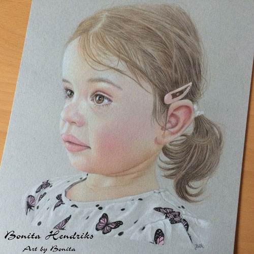 Luna by Bonita Balster Hendriks, guest artist at Louise's ARTiculations