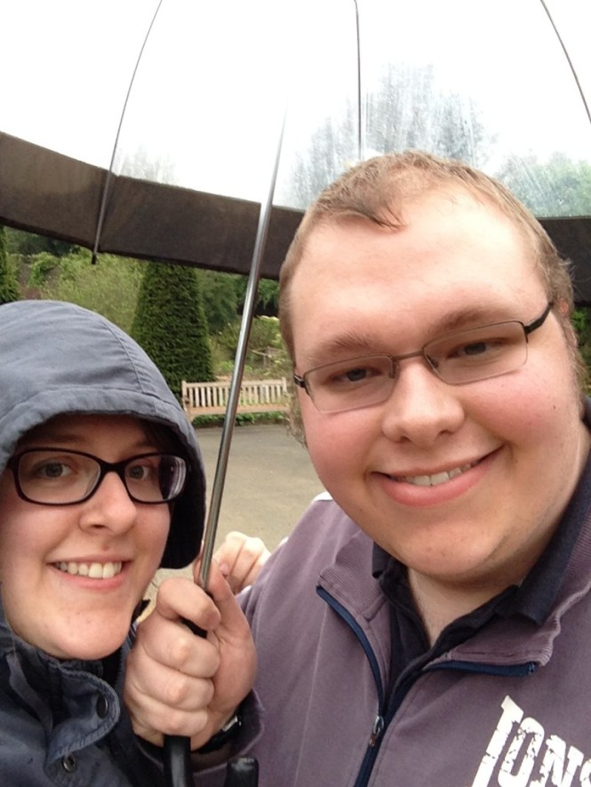 Walking in the rain at Golden Acre!