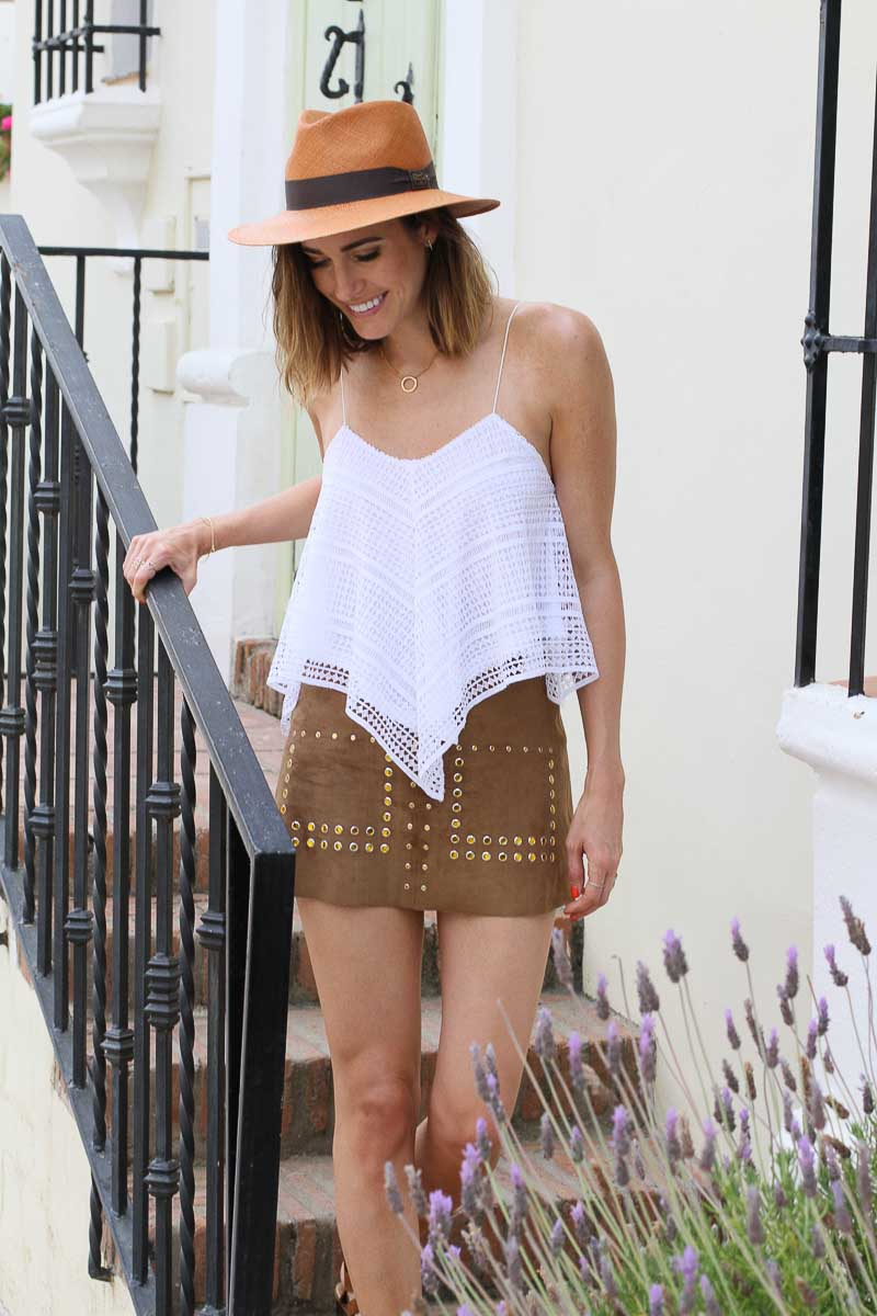 Louise Roe - How To Wear Suede and Mini Skirts For Summer - Streetstyle in Marbella Spain - Front Roe fashion blog 8