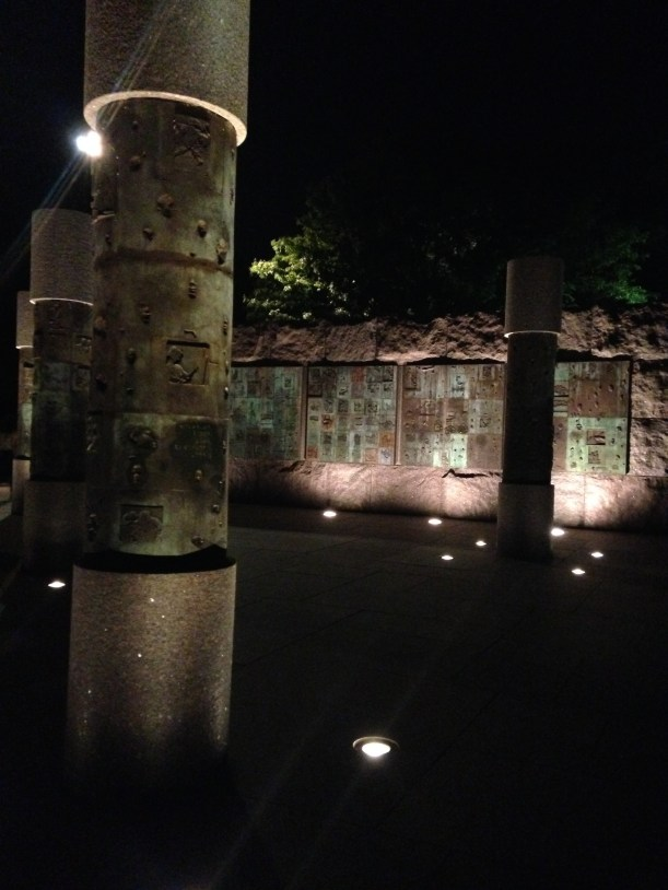 The monuments at night - full of art and culture. Including these at the FDR memorial