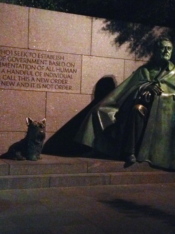 FDR Memorial at night