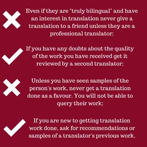 Choosing translators