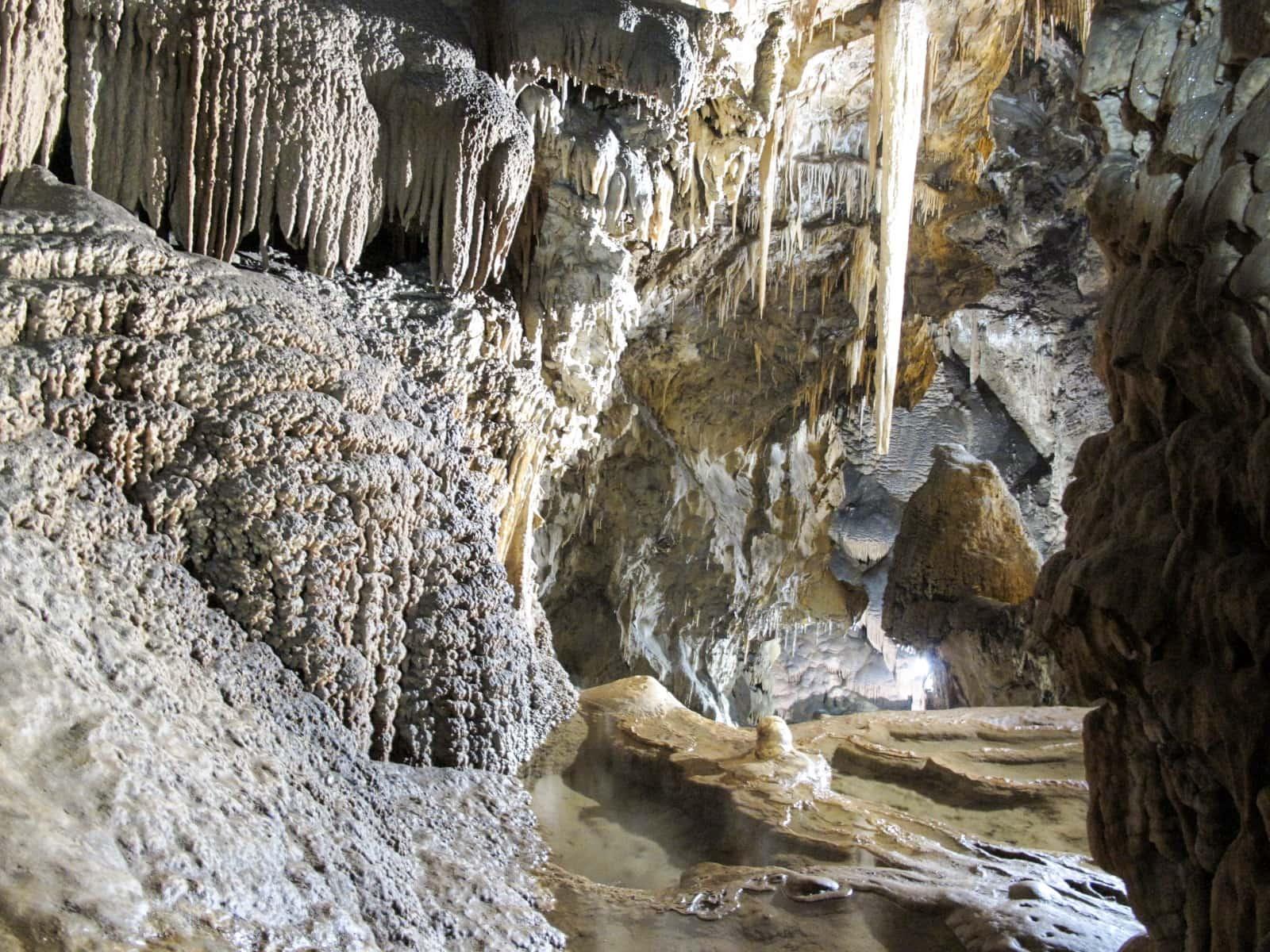 Grotte di Su Mannau - La rivière