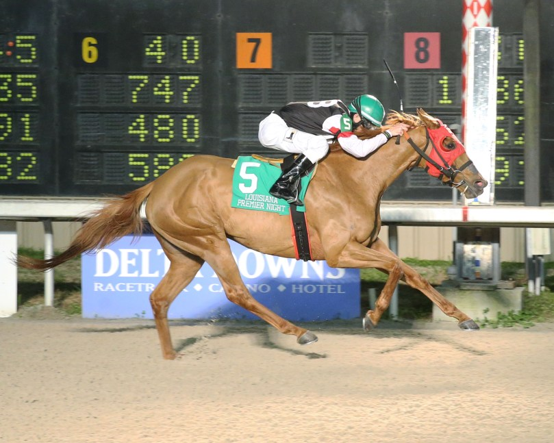 MARIAH'S GALAXY - La Bred Premier Night Distaff - 02-08-20 - R05 - DED - Finish