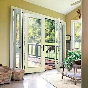 Exterior doors with panel