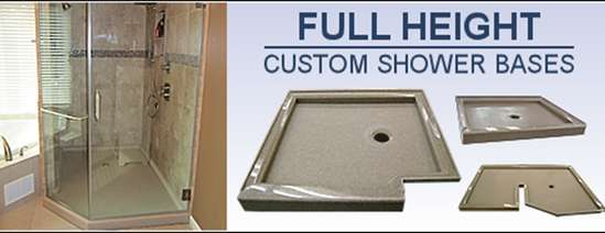 Full height custom shower bases