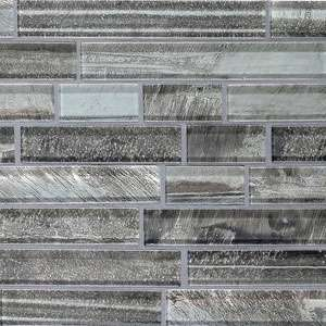 Glass strip mosaic tile