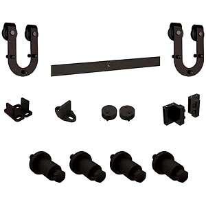 Horseshoe barndoor hardware