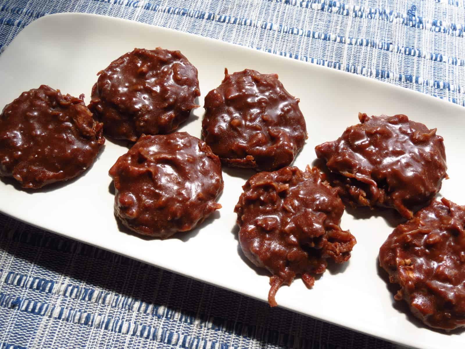 German Chocolate No-Bake Cookies