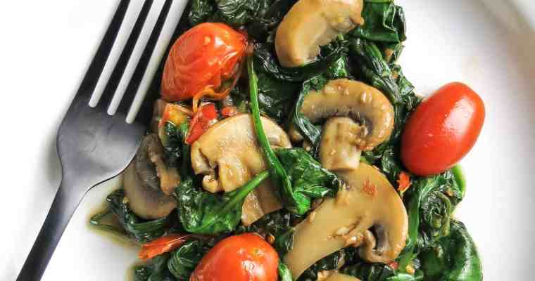 Spinach Medley, A Healthy Spinach Side dish