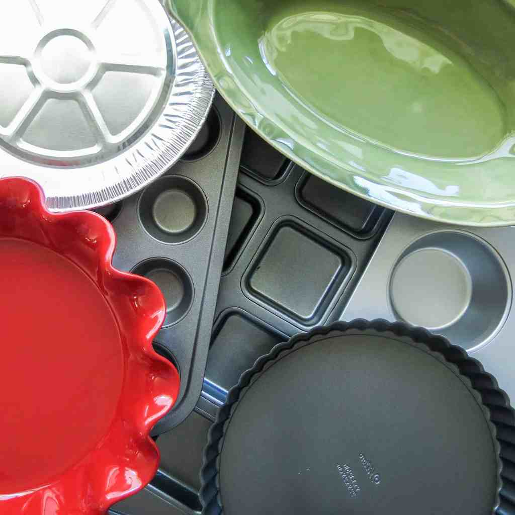 Seven different pans to choose from in How To Make Quiche.