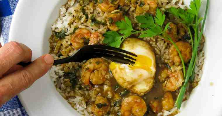 Shrimp Stew With Eggs
