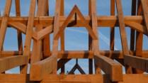barn conversion, timber framing, oak timber frame, oak roof frame, oak veranda, traditional timber frame, France, Dordogne