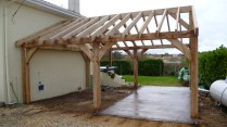 timber frame, France, oak frame, green oak, Douglas fir