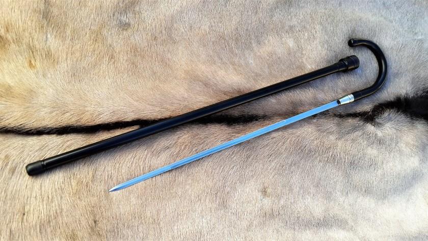 Aluminium sword cane