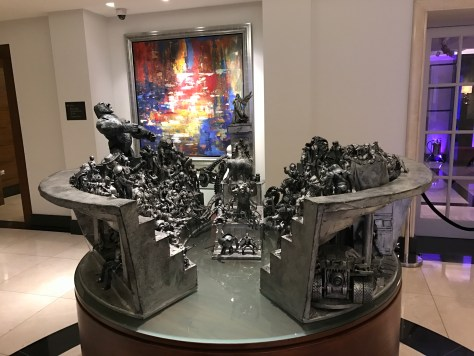 Conrad London lobby toy sculpture