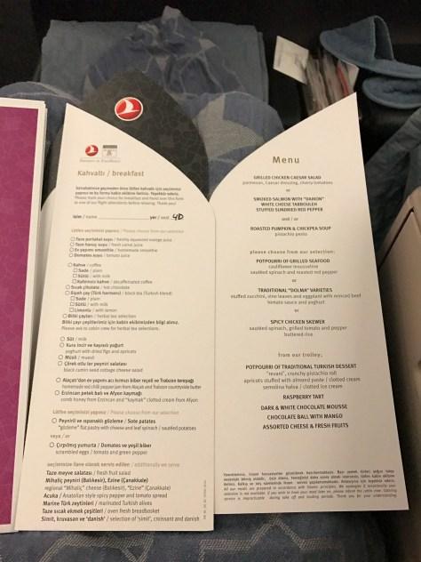 Turkish business menu IST-KUL