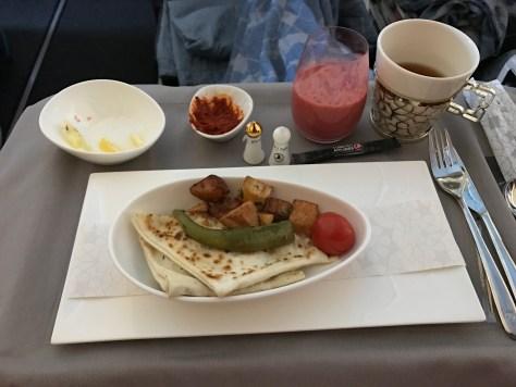 Turkish breakfast wrap