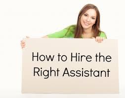 Hiring an assistant