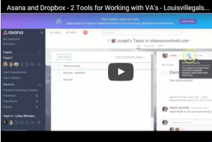 using Asana and Dropbox
