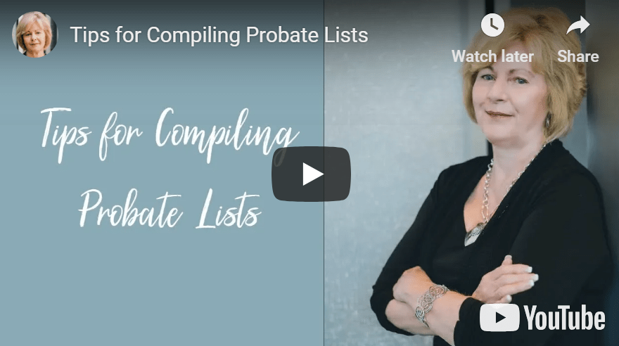 Tips for Compiling Probate Lists – Podcast #155 & Video