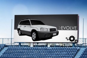 Evolve - stadium display | vector drawing | adobe illustrator & photoshop
