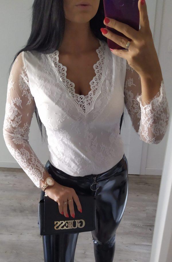 Body koronka - białe Lou Le Li