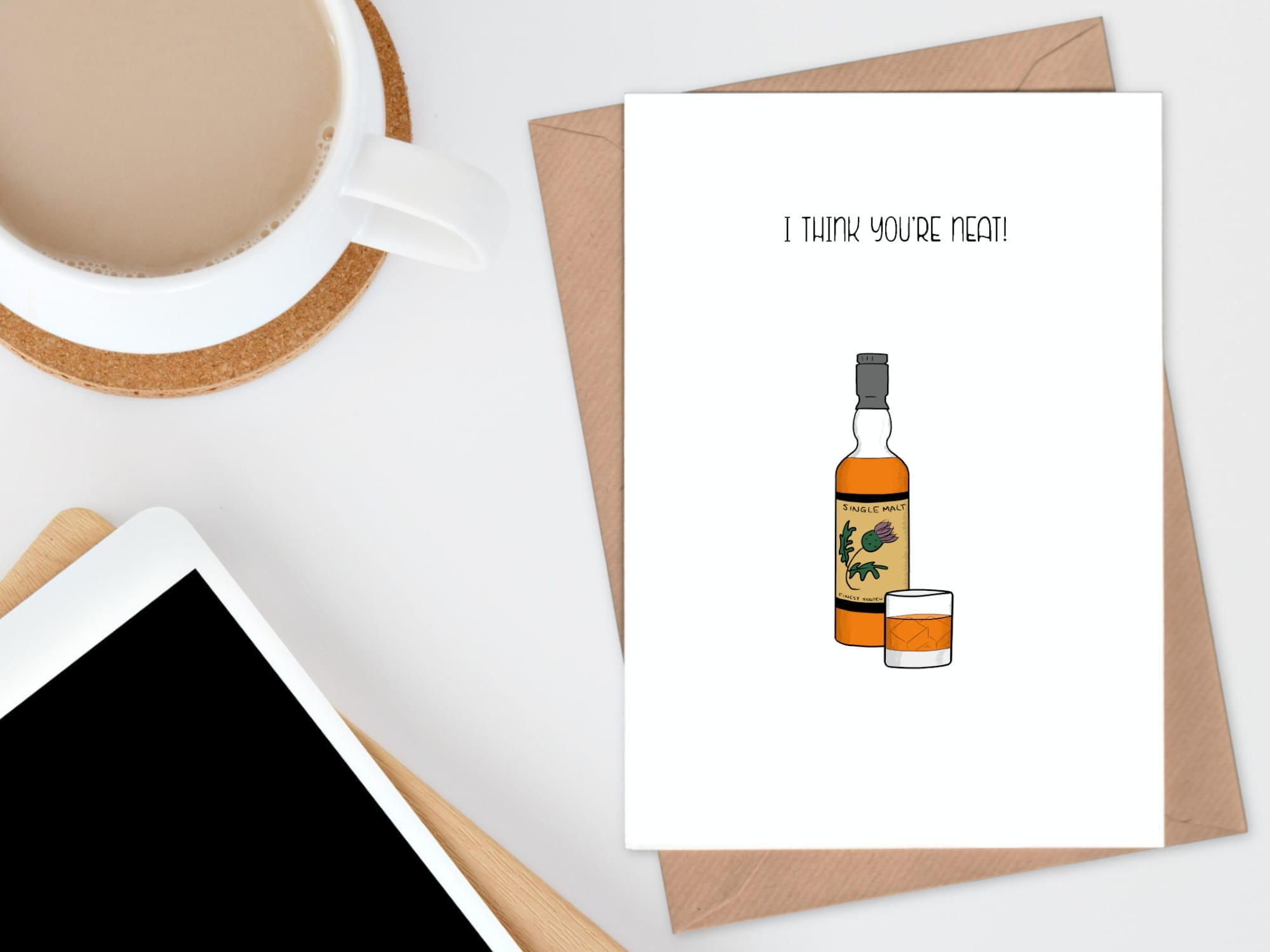 whisky you're neat card