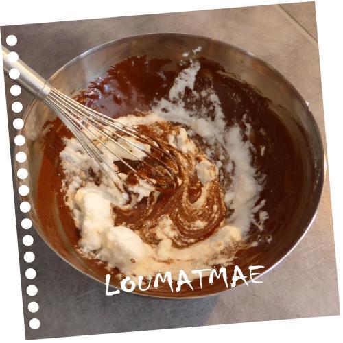 mélange chocolat blanc d'oeufs