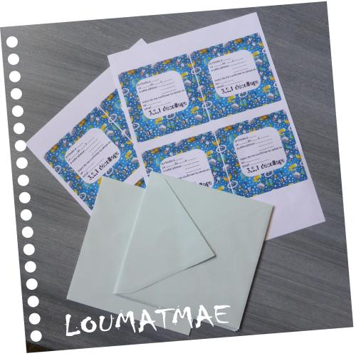 invitations à imprimer