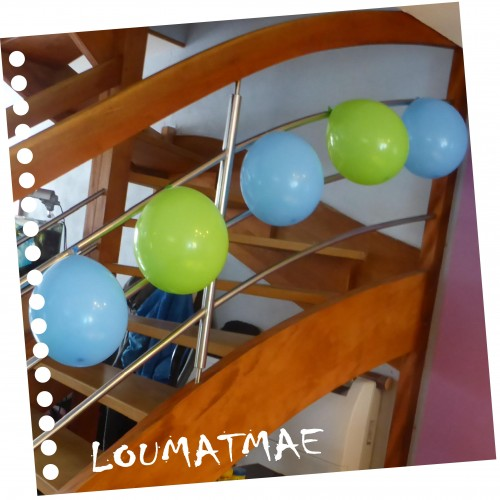 décoration bleu et vert anis