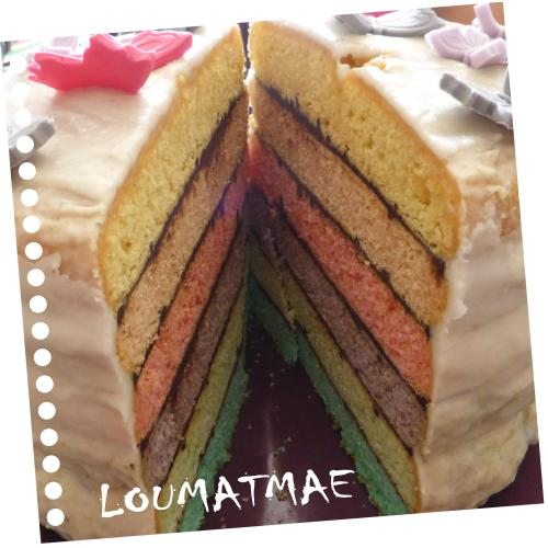 interieur rainbow cake