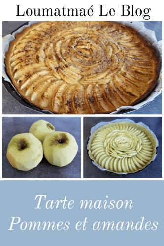 tarte pommes et amandes fait maison