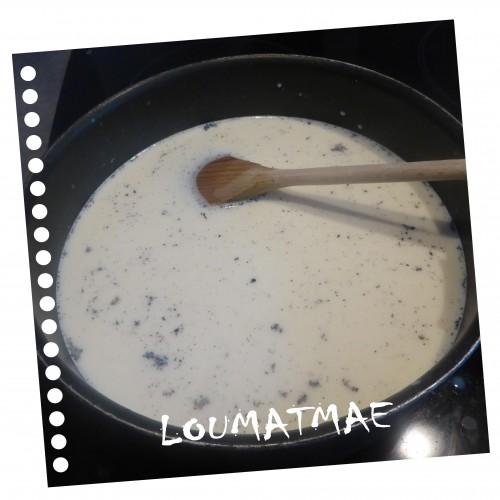 lait tiède et gousse de vanille