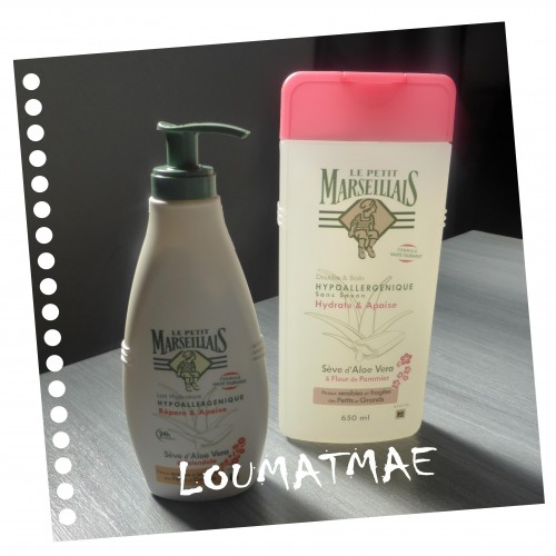 lait hydratant et gel douche Le Petit Marseillais