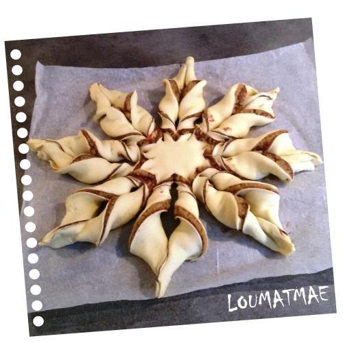 étoile torsadée de pâte feuilletée