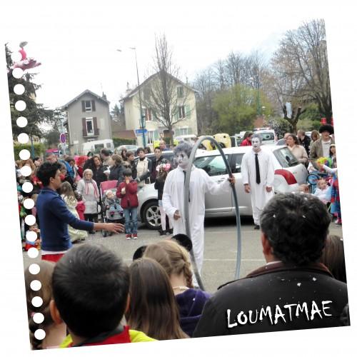 spectacle de rue au Carnaval