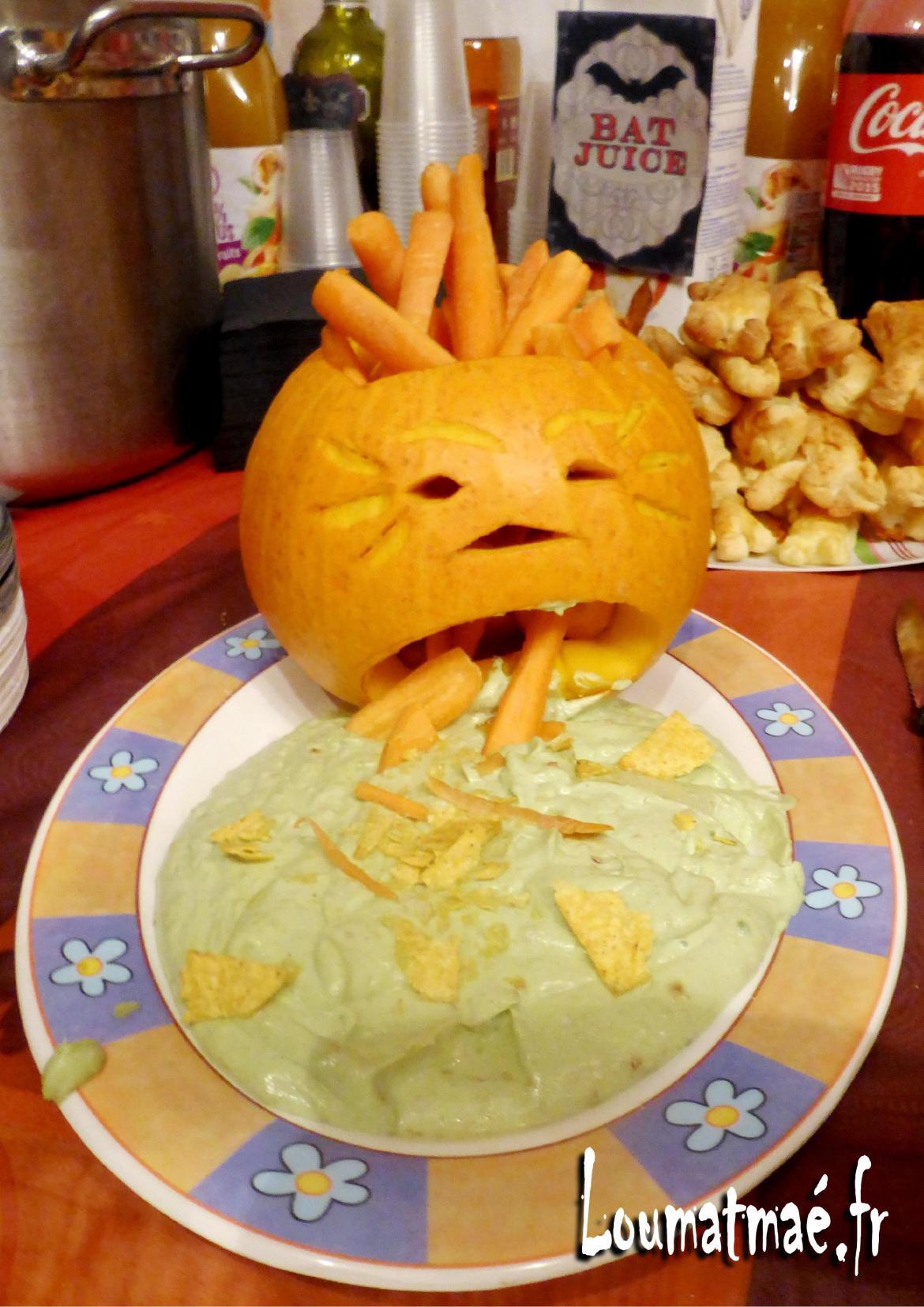 vomi de citrouille d'Halloween