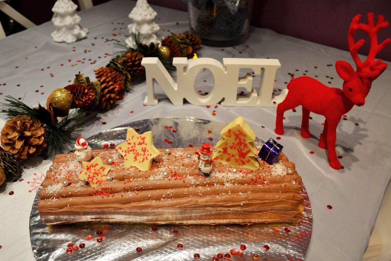 bûche de Noël au 2 chocolats