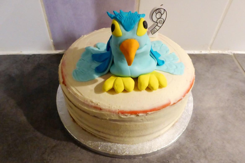 Perroquet en Pâte à sucre