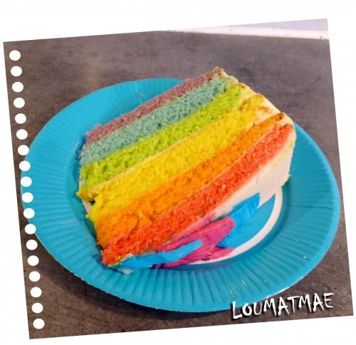 Rainbow Cake gâteau arc en ciel