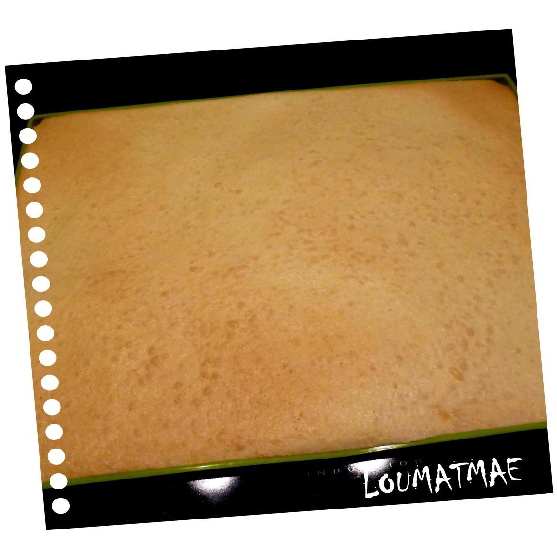 génoise dorée pour gâteau roulé