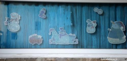 decor bonhomme de neige fenêtre stockOmani