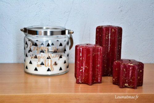 bougies de chez StockOmani et Lidl