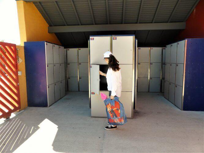 casier de consigne au parc walibi