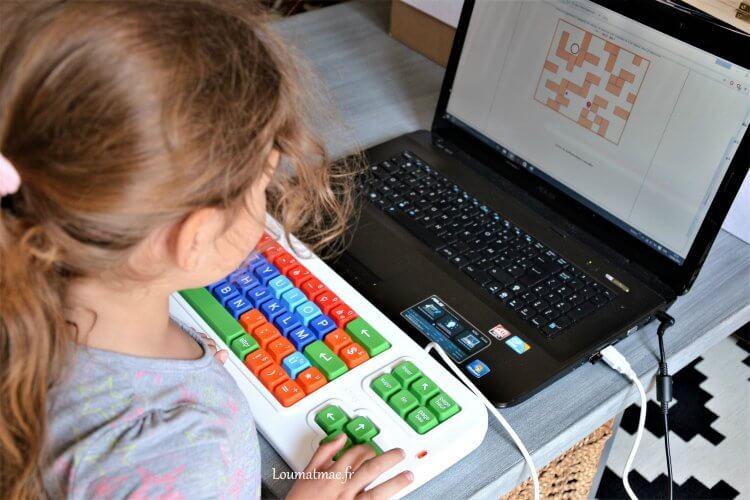 clavier clevy adapté de 4 à 12 ans