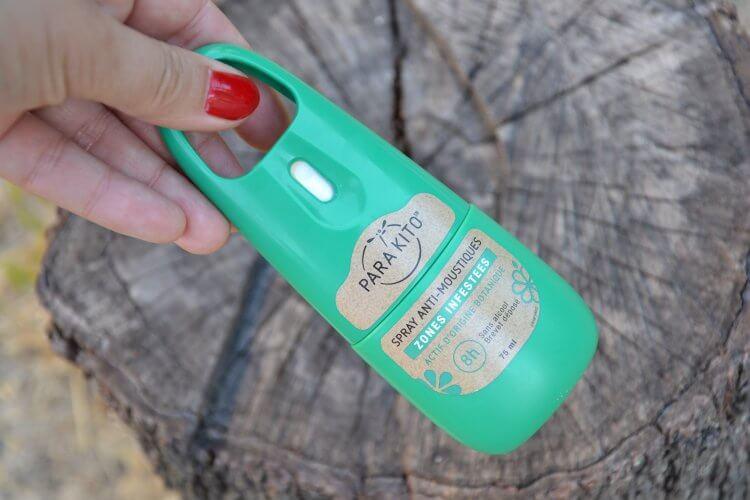 spray anti-moustiques principe actif d'origine botanique