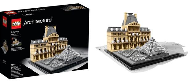 Le Louvre en Lego Architecture